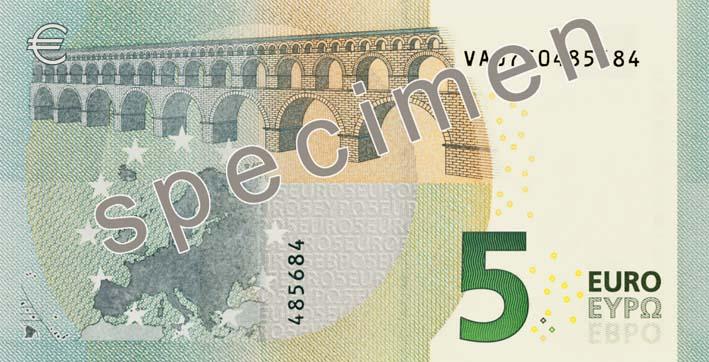 la BCE annonce  la mise en circulation du nouvelle série de billets, appelée « Europe », dont la première coupure sera le billet de 5€. Sa mise en circulation est prévue pour le 2 mai 2013.