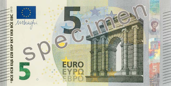 Nouveau billet de 5€