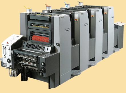 Il existe des machines offset à 4 couleurs. Elles coûtent environ 500 000 euros.